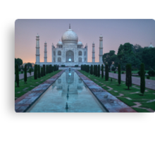 Moonlit Taj Canvas Print