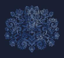 Indigo Blue Denim Ink Doodle T-Shirt