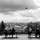 Enjoying the view - Sacre Cour - Paris, France by Norman Repacholi