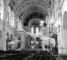 Inside eglise de la Sainte Trinite - Paris, France by Norman Repacholi