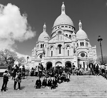 The steps of Sacre Cour -  Paris, France by Norman Repacholi