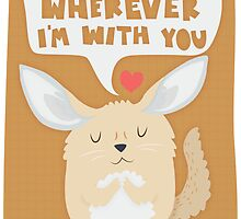 Fennec Fox - Home Is Wherever I'm With You by Claire Stamper