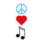 Peace Love Music by SamanthaMirosch