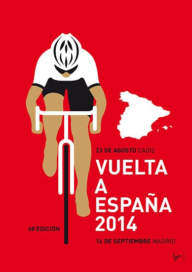 My Vuelta a Espana Minimal poster by Chungkong