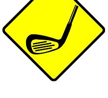 Golf Club Crossing Sign by kwg2200