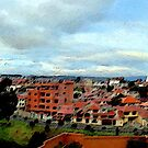 Cuenca Panorama Digital Painting by Al Bourassa