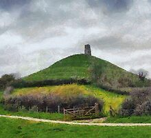 Glastonbury Tor, Somerset levels, UK by buttonpresser