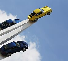 Flying Porsches by Piers Coe