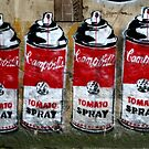 Campbells Tomato Spray - Banksy by Paula Bielnicka