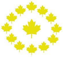 Canada Gold Maple Leaf Shirt by NENUDJUS