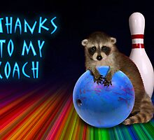 Thanks To My Coach Raccoon by jkartlife