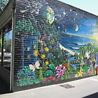 Beautiful Mural, South Terrace, C.B.D. Adelaide,  Sth. Aust by Rita Blom