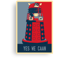 Dr Who - Yes We Caan Canvas Print