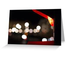 Red Traffic Light in Paris Greeting Card