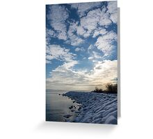 Cirrocumulus Clouds and Sunshine - Lake Ontario, Toronto, Canada Greeting Card