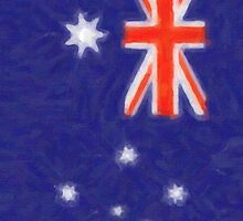 Australian flag - painting by stereoscopic