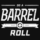 Star Fox 64 - Do A Barrel Roll Official Tee (White) by Chad D'cruze