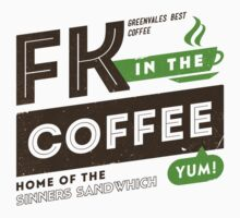 Deadly Premonition - FK In The Coffee Official Tee (Brown / Green) by Chad D'cruze