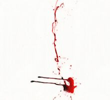 Blood spatter - drawing by stereoscopic