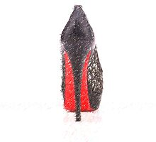 High heel shoe for ipad - drawing by stereoscopic