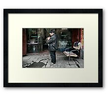 One child policy Framed Print
