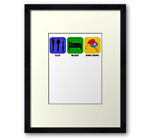 Eat Sleep Ping Pong Framed Print