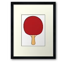 Ping Pong Paddle Framed Print