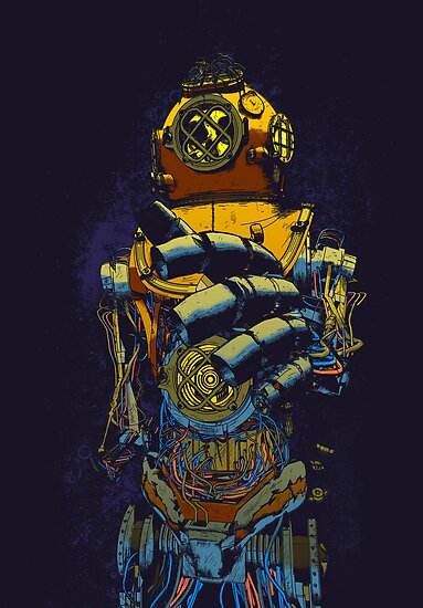 Mechanical Diver by lmilustraciones