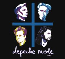Depeche Mode Songs Of Faith and Devotion Cartoon Shirt by Shaina Karasik