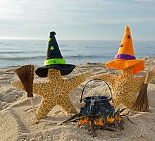 Halloween Beach Party by Maria Dryfhout
