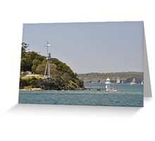 HMAS Sydney Monument & Tall Ships Departure 2013 Greeting Card
