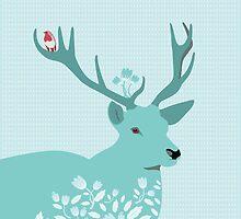 Blue Deer by Orna Artzi