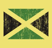 Jamaican Flag - print for yellow background by portispolitics