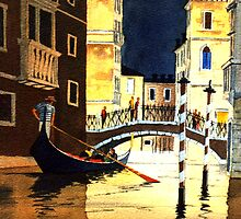 Evening Lights Venice by bill holkham