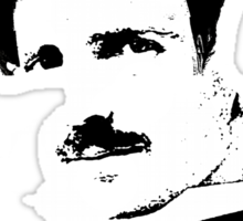 Postmodern Tesla Black Sticker