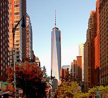 New York City, freedom tower print by rlnielsen4