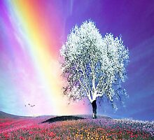 Rainbow and the White Tree by kobalos