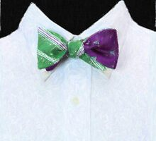 Green bowtie - Crayon drawing by stereoscopic