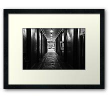 Down a Tunnel Darkly Framed Print