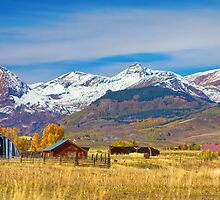 Crested Butte Autumn Landscape Panorama by Bo Insogna