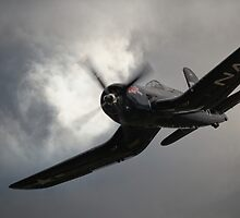Red Bull Chance Vought F4U-4 Corsair by Nigel Bangert