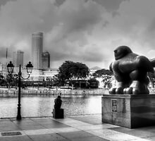 Urban Landscape Singapore BW by William Yee Khai Teo