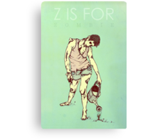 Z is for Zombie Canvas Print