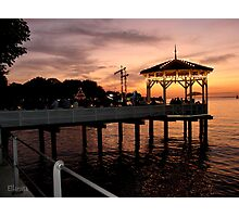 Sunset over Lake Constance-Bodensee Photographic Print