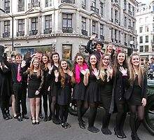 West End Kids provided entertainment at the Regent Street Motor Show 2013, by Keith Larby