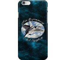 F-22 Raptor Air Supremacy iPhone Case/Skin