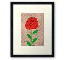 THE BEAUTY OF THE ROSE Framed Print
