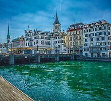 Zurich on the Limatt by Adam Northam