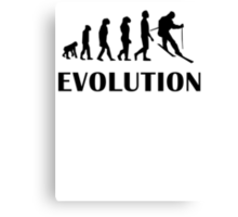Skiing Evolution Canvas Print