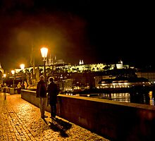 Night On The Charles Bridge - Prague - Czech Republic by Madeline Bush Ellis